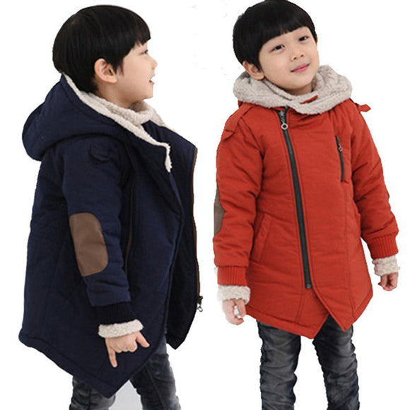 Children Jackets Boys Hooded With Fur Outerwear Warm Winter Jacket Clothing - 88apparelcompany