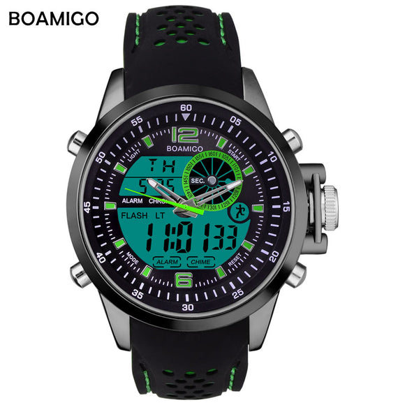 Men Sports Watches BOAMIGO Brand Military Digital Watches  Analog LED Quartz Watch 30M Waterproof Wistwatches Relogio Masculino - 88apparelcompany