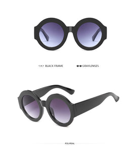 Fashion round Sunglasses Women Vintage Brand Designer Big Mirror Sun Glasses - 88apparelcompany