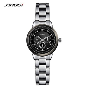 SINOBI Fashion Brand Quartz Watch Women Stainless Steel Watchband Ladies Quartz-watch Geneva Clock Female Dress Wristwatch - 88apparelcompany