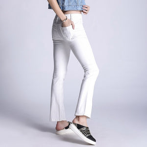 5XL Plus Size White Jeans Women Jeans High Waist Skinny Denim Pants 2018 Long Fringe Jean Boyfriend Femme K2072 - 88apparelcompany