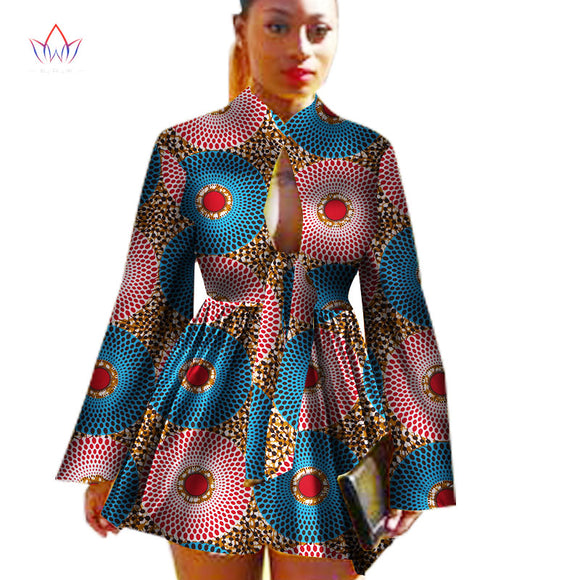 2018  African Dashiki traditional batik women coat robe longue femme print Bazin Riche women coat plus size 5xl regular WY1378 - 88@pparel