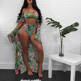 African Beach Hot Dress Print Women Swimwear Sexy Lace Up Swimsuit Floral Monokini 2018 Bodysuit Bathing Suit With Plus Size Top - 88apparelcompany