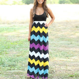 Womens Striped Long Boho Dress Lady Beach Summer Sundrss Maxi Dress Plus Size - 88apparelcompany