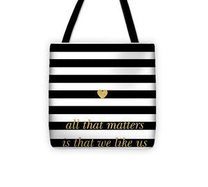 Valentine's Stripe II Tote Bag - 88apparelcompany