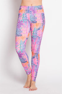 CUTOUT SIDE SPRING PRINTED LEGGING - 88apparelcompany