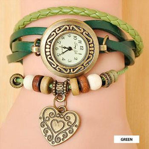 Heart Vintage Wrap Watch - 88apparelcompany