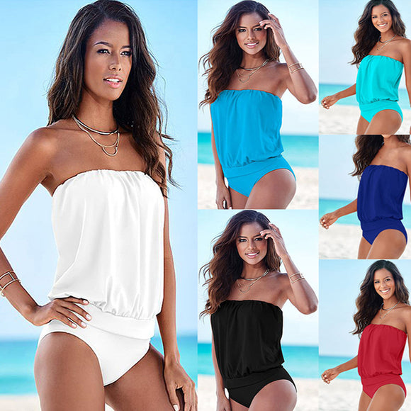 Hot Sexy Plus Size Swimwear Female  One Piece Swimsuit Women Vintage Bathing Suit One-Piece Suit 2018  Large Size Swimsuits - 88apparelcompany