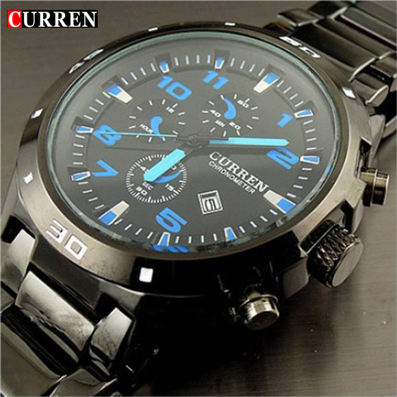 Curren Brand fashion clock stainless steel Military Man Casual Sport Quartz watch waterproof reloj relogio masculino Male - 88apparelcompany