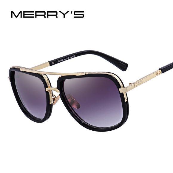 MERRY'S Fashion Men Sunglasses Classic Women Brand Designer Metal Square Sun glasses UV400 Protection S'662