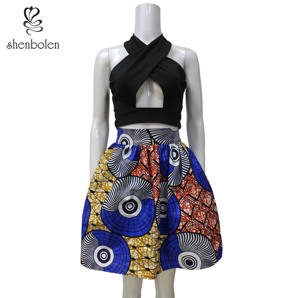 African Clothes For Women Set Dashiki Women Top+ skirt Cotton Printed Fashion Party Clothes