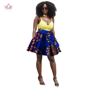 Summer Women Clothing African Print Skirts Ankara Fashions Midi Kitenge A-Line Skirts Dashiki African Print Skirts