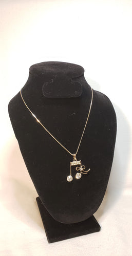 SIXTEENTH NOTE AND RIBBON PENDANT