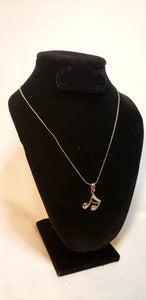 SLANTED 16TH NOTE PENDANT NECKLACE