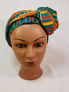 Turquoise Traditional Kente