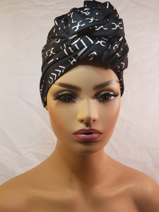 Mud Cloth Print Head Wrap
