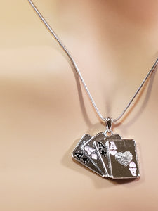 ACE OF HEART PENDANT NECKLACE