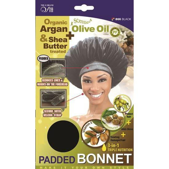 Qfitt 4 in 1 Oil Infused Padded Bonnet #865/#866