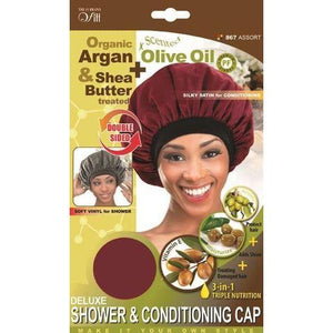 Qfitt 3 in 1 Oil Infused Deluxe Shower & Conditioning Cap #867