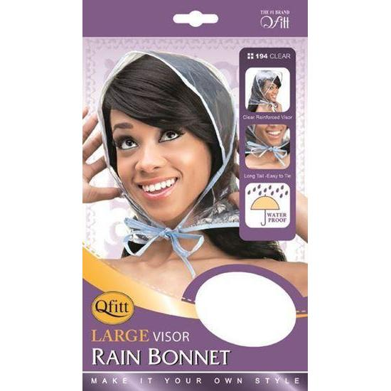 Qfitt Large Visor Rain Bonnet #194 Clear