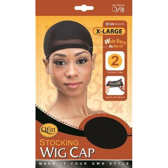 Qfitt Stock Wig Cap #126 Black (XL)