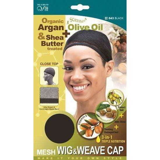 Qfitt 3 in 1 Oil Infused Closed Top Mesh Wig & Weave Cap #843