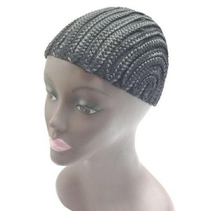 Qfitt Straight Back Cornrow Cap #5024 Black