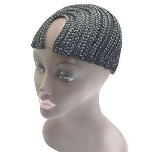 Qfitt U-Part Style Cornrow Cap #5023 Black