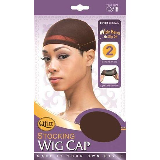 Qfitt Stocking Wig Cap #101- Brown