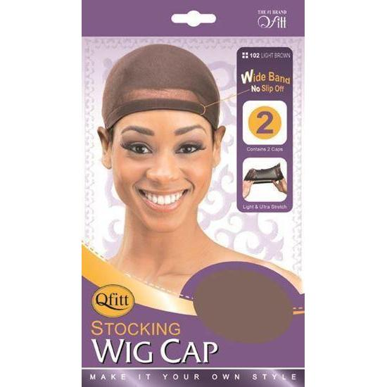 Qfitt Stocking Wig Cap #102 - Light Brown
