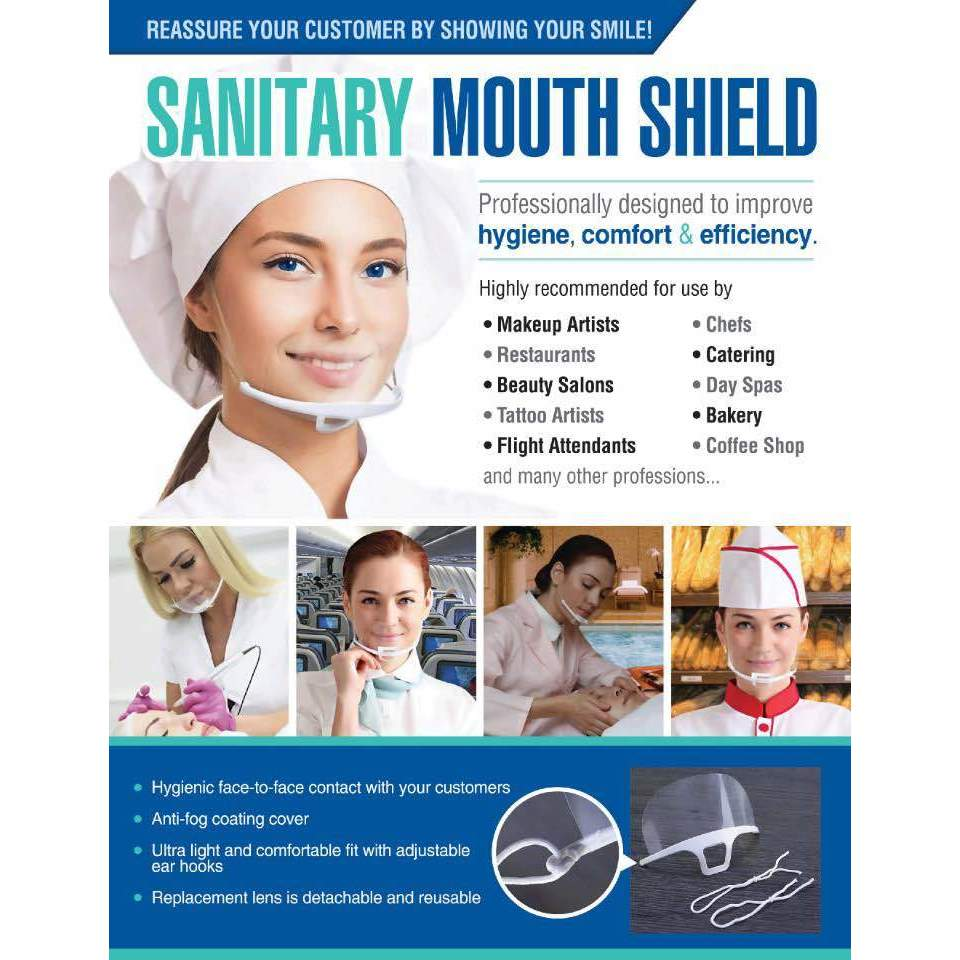 Sanitary Mouth Shield 10 PCS