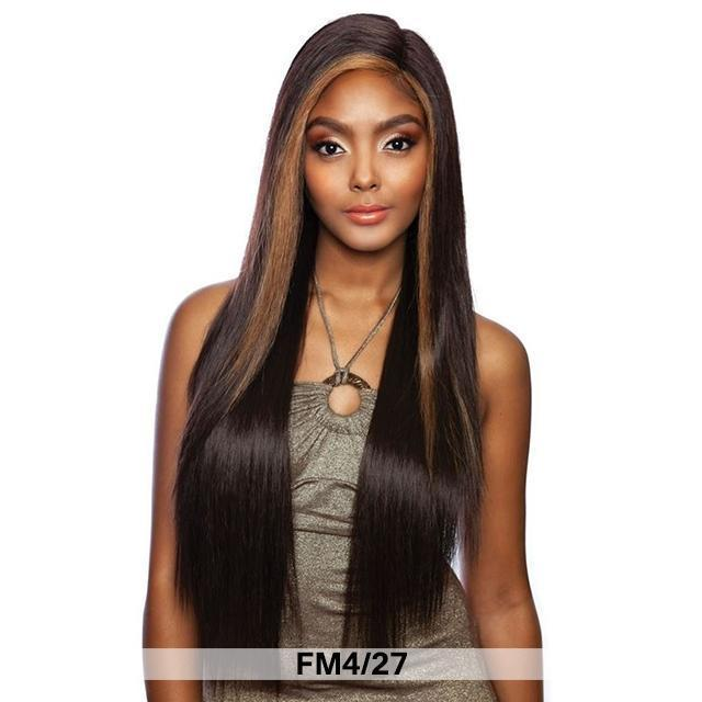 Mane Concept Human Hair Blend Melanin Queen Fave Lace Front Wig - SECRET STRAIGHT 30(MLFV201)