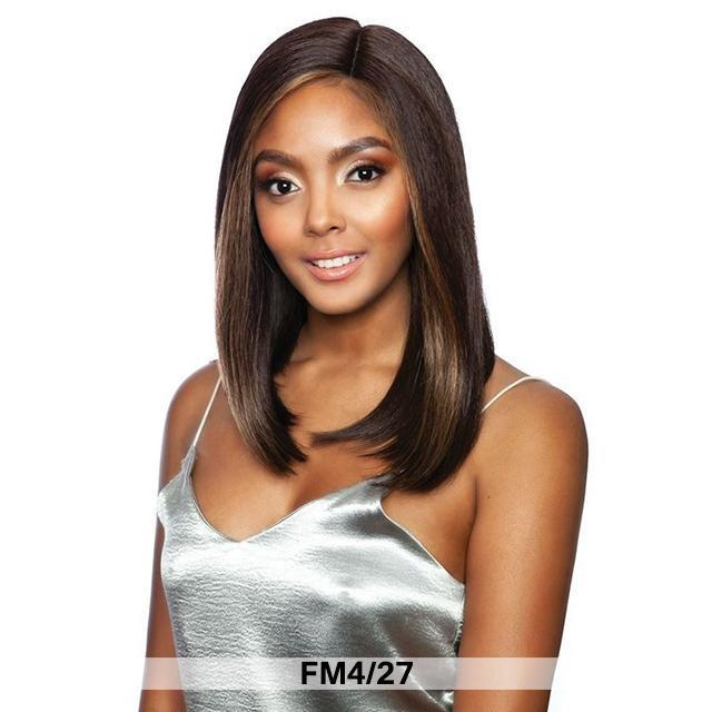 Mane Concept Human Hair Blend Melanin Queen Fave Lace Front Wig - SWING BOB 14 MLFV202