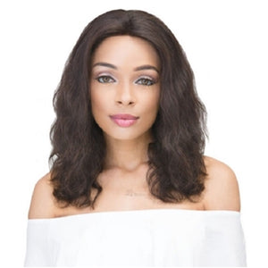 "Janet Collection 100% Natural Virgin Remy Human Hair - 360 Lace Wig 20"" Natural Black"