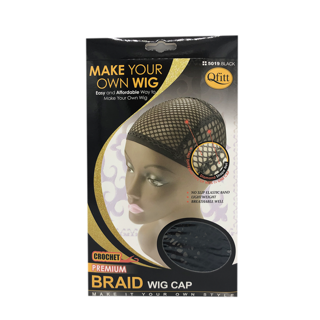 Qfitt Side Premium Braid Wig Cap Black