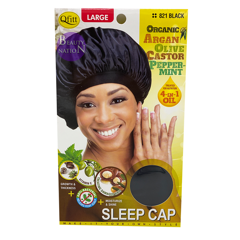 Qfitt 4 in 1 Oil Infused Sleep Cap #820/#821 (L)