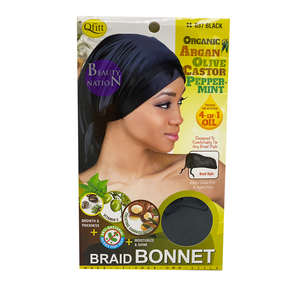 Qfitt 4 in 1 Oil Infused Braid Bonnet #836/#837