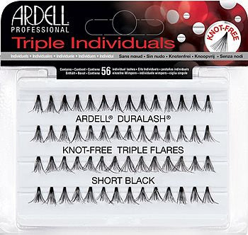 Ardell Lashes Triple Individuals Knot-Free Triple Flares SHORT