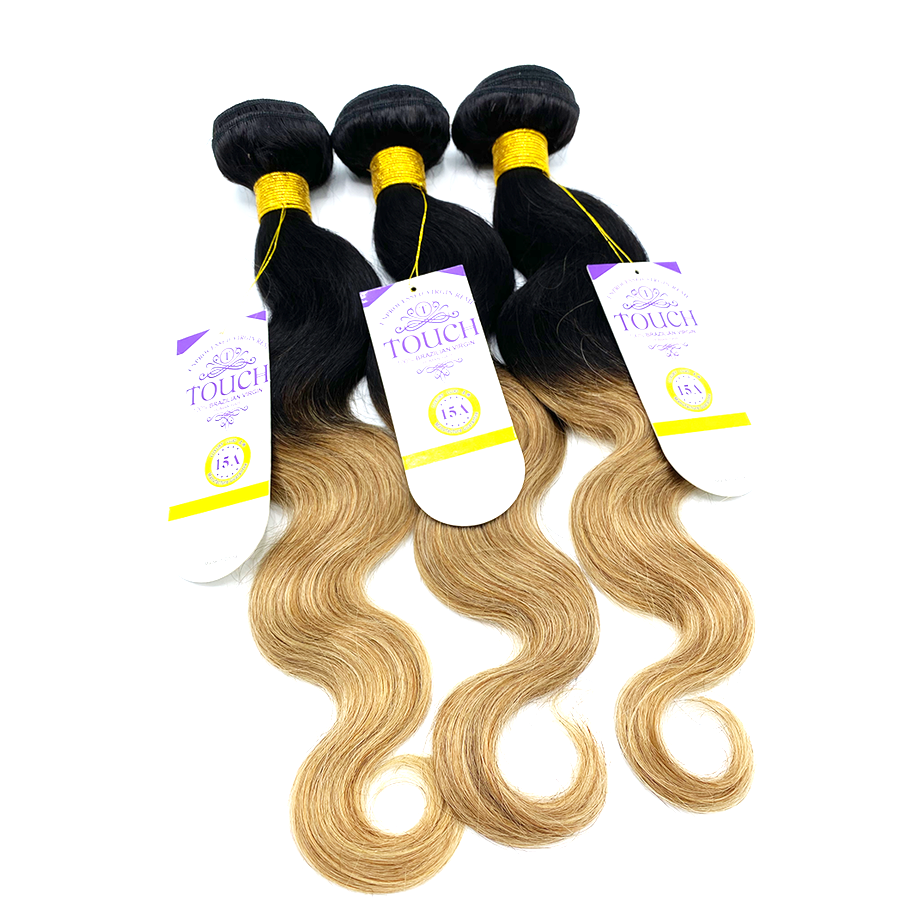 15A 100% Human - TOUCH BUNDLES - BODY WAVE SET - T1B/27