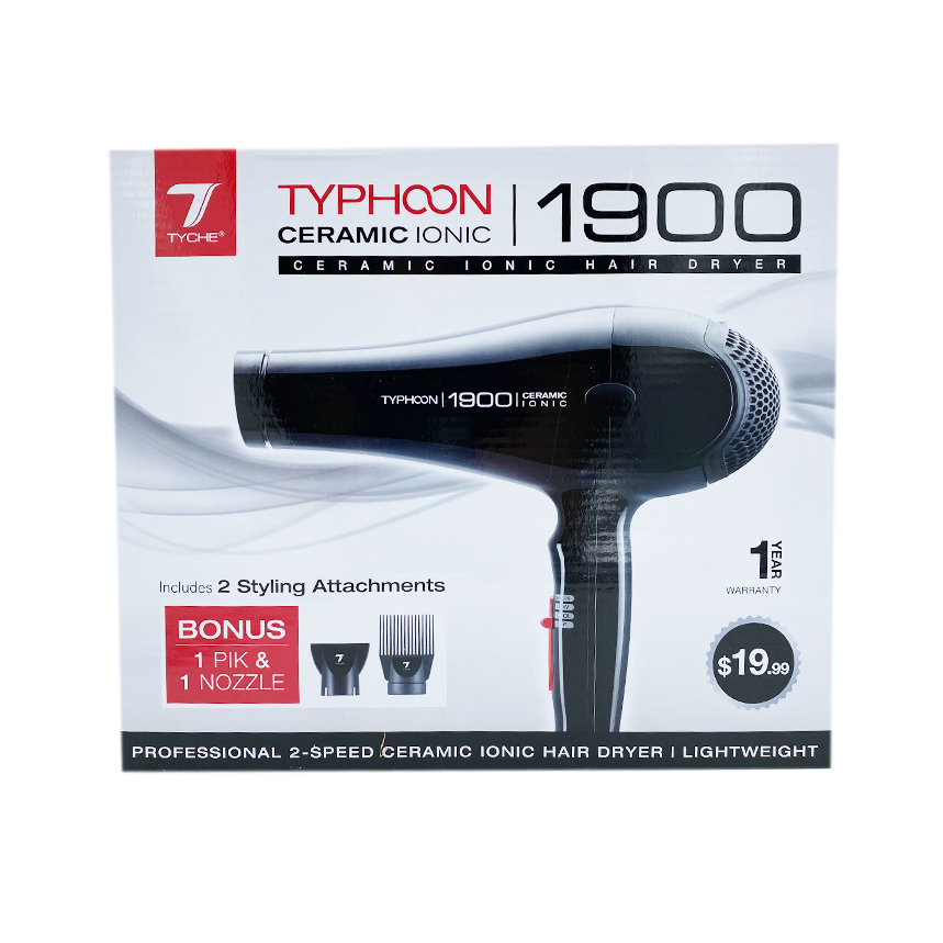 NICKA K | Tyche Ceramic Ionic 1900 Typhoon Hair Dryer