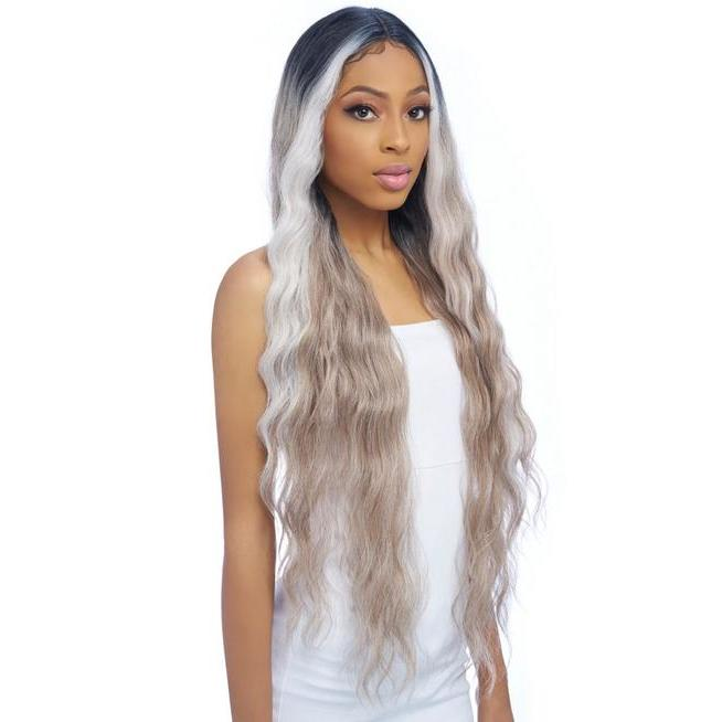 Harlem 125 Ultra HD Sleek Ponytail Synthetic Hair Lace Wig LH010