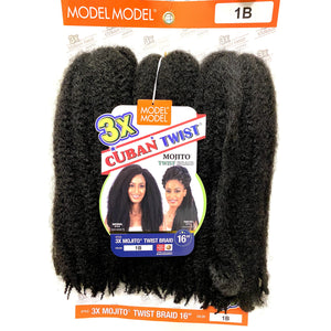 Model Model 3X Cuban Twist Braid 16""