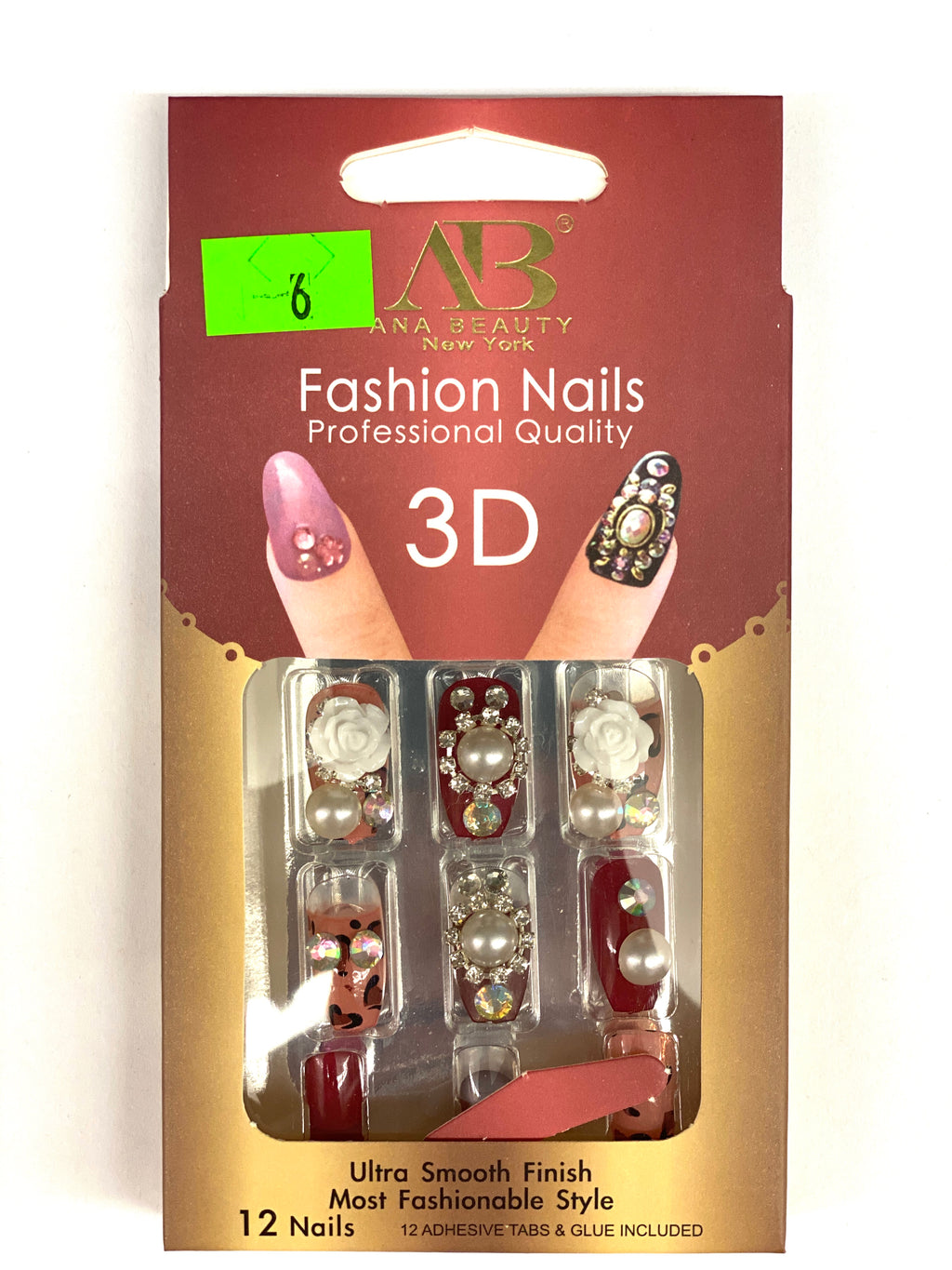 Ana Beauty Fashion Nails 3D - B6