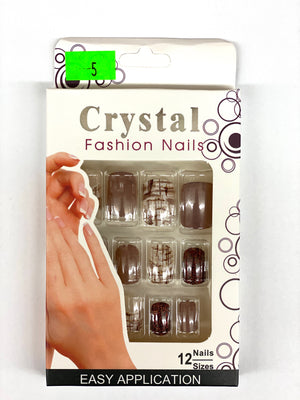 Crystal Fashion Nails - D5