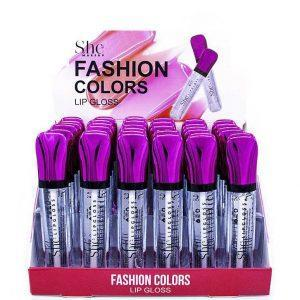 SHE Fashion Colors Lip Gloss - Clear