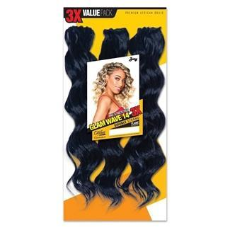 Zury Synthetic Pre-Stretched Crochet Braid - 3X GLAM WAVE 14