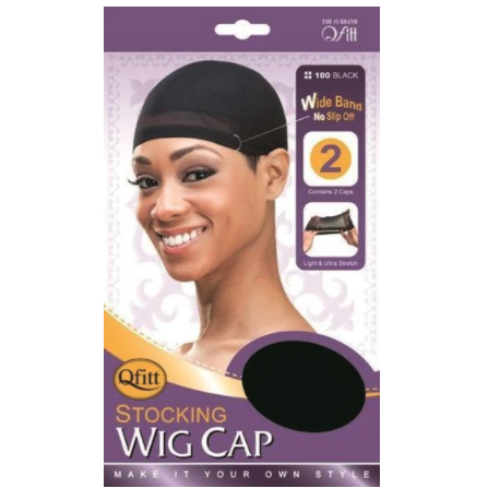 Qfitt Stocking Wig Cap #100 - Black