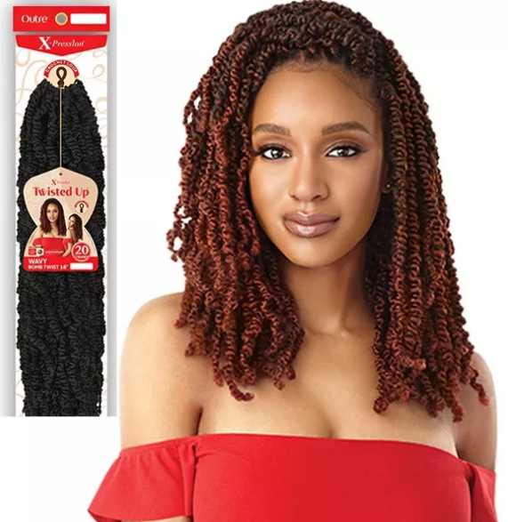 Outre Synthetic X-PRESSION Twisted Up Crochet Braid - WAVY BOMB TWIST 18""