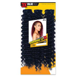 Zury Synthetic Crochet Braid Bohemian 3x PACK 14""