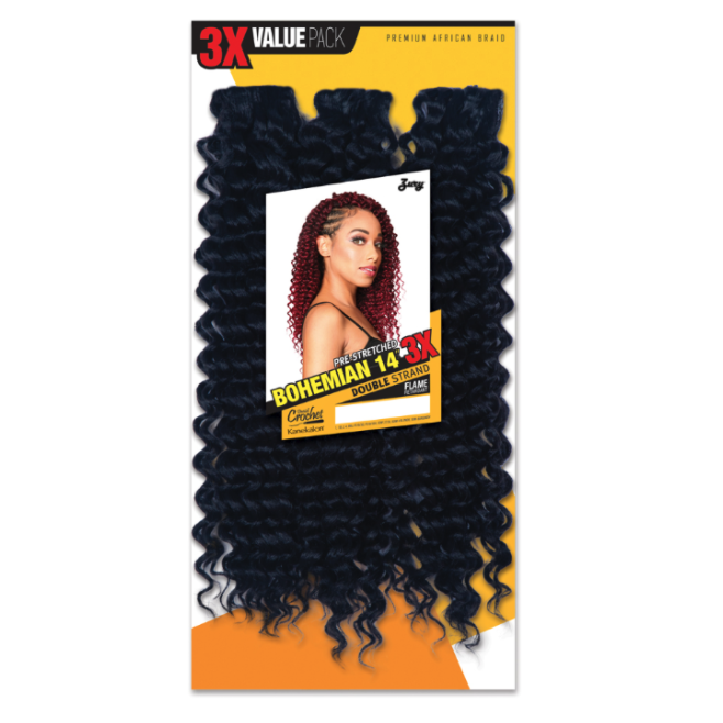 Zury Synthetic Crochet Braid Bohemian 3x PACK 14